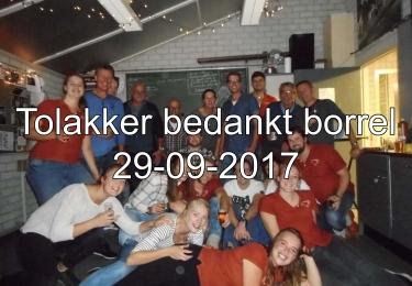 Tolakker Bedankt Borrel 29-01-2017